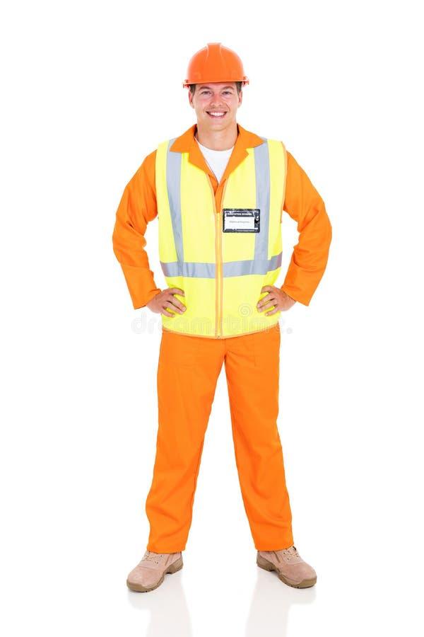 Mannelijke elektroarbeider stock afbeeldingen