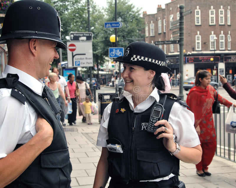 De politiemannen van Londen op slaan royalty-vrije stock afbeelding