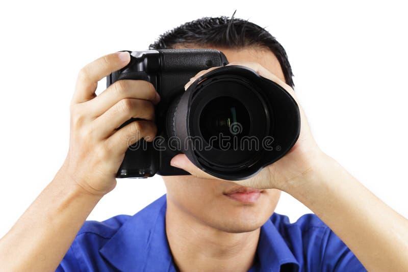 Mannelijke Fotograaf stock afbeeldingen