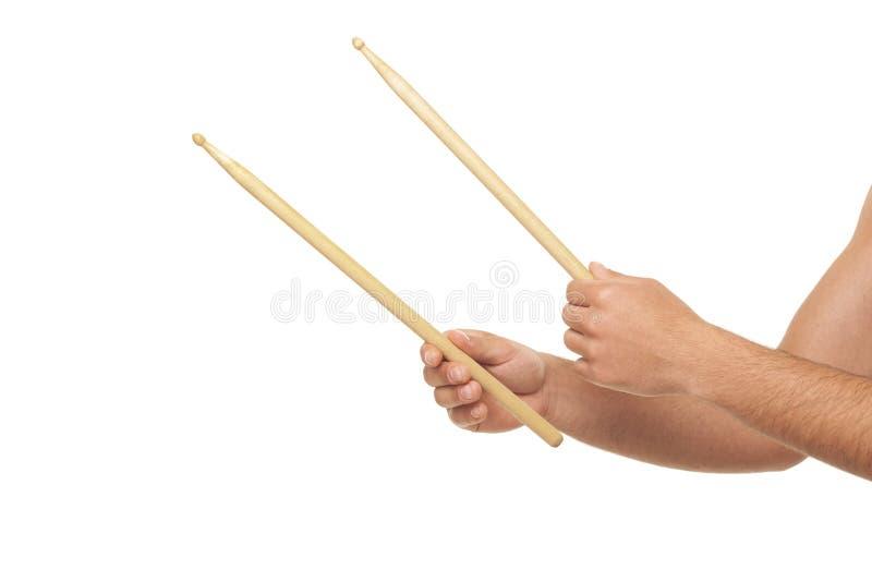 Download Mannelijke Handen Die Trommel Sticks Stock Afbeelding - Afbeelding bestaande uit instrument, ritme: 54087551