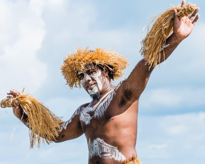 Mannelijke Kanak-danser stock foto's
