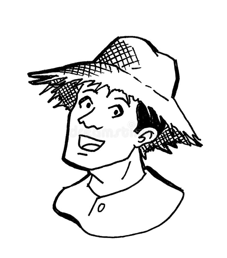 Mannelijke landbouwer royalty-vrije illustratie