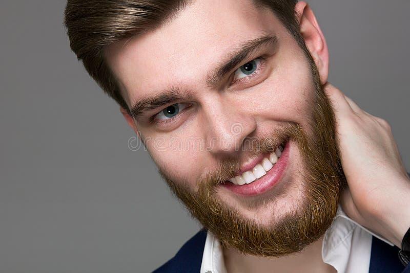 Mannelijke Model grote rode baard royalty-vrije stock foto