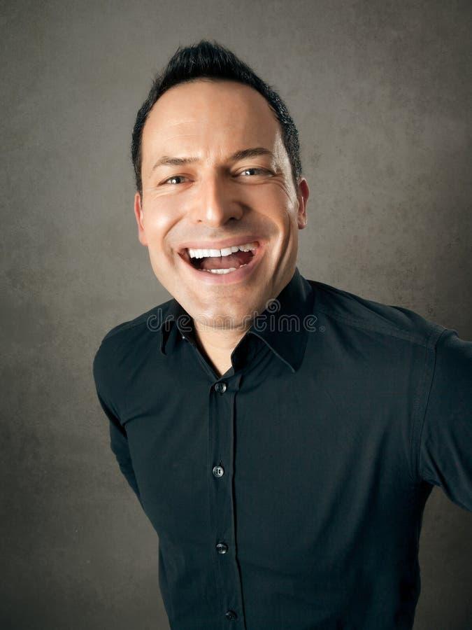 Mannelijke portretvreugde stock afbeelding