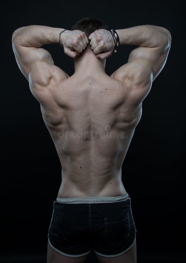 Mannelijke rug stock afbeeldingen