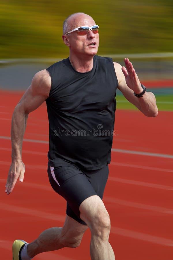 Mannelijke sprinter stock afbeelding