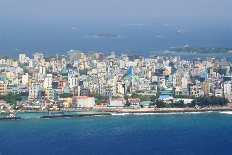 Mannelijke stad, de Maldiven stock afbeeldingen
