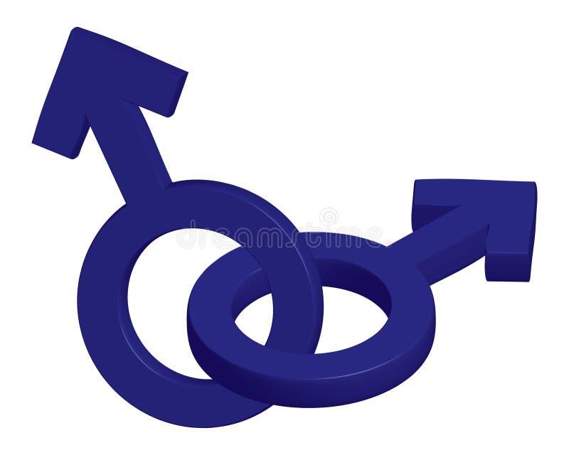Mannelijke symbolen royalty-vrije illustratie