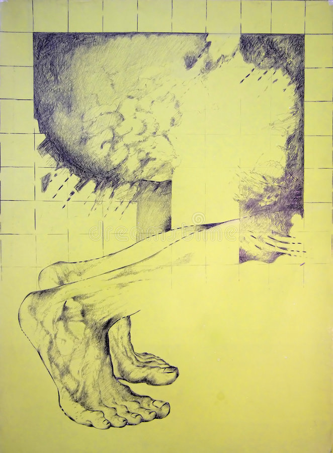 Mannelijke voeten anathomy royalty-vrije illustratie