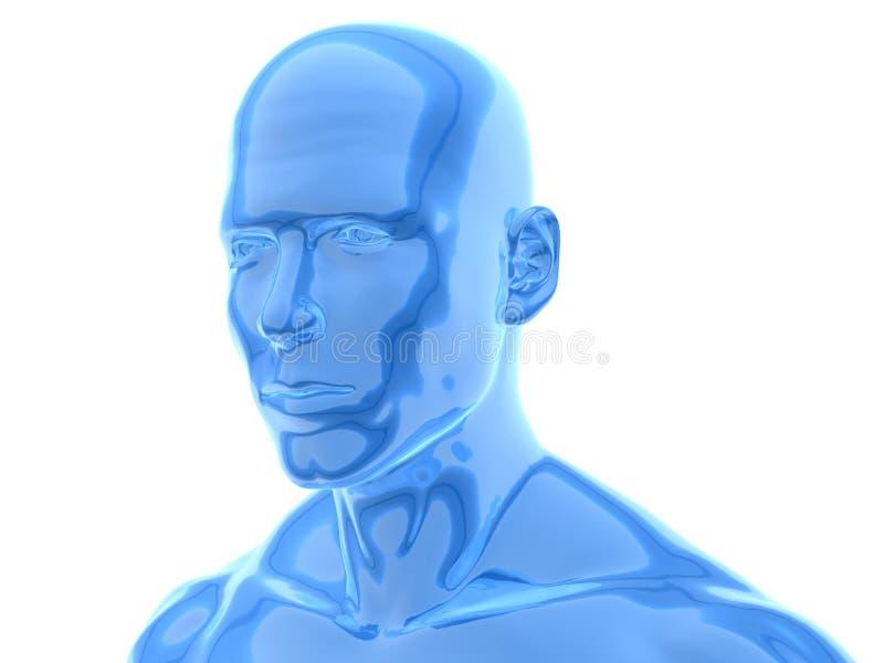 Mannelijke weerspiegelende oppervlakte vector illustratie