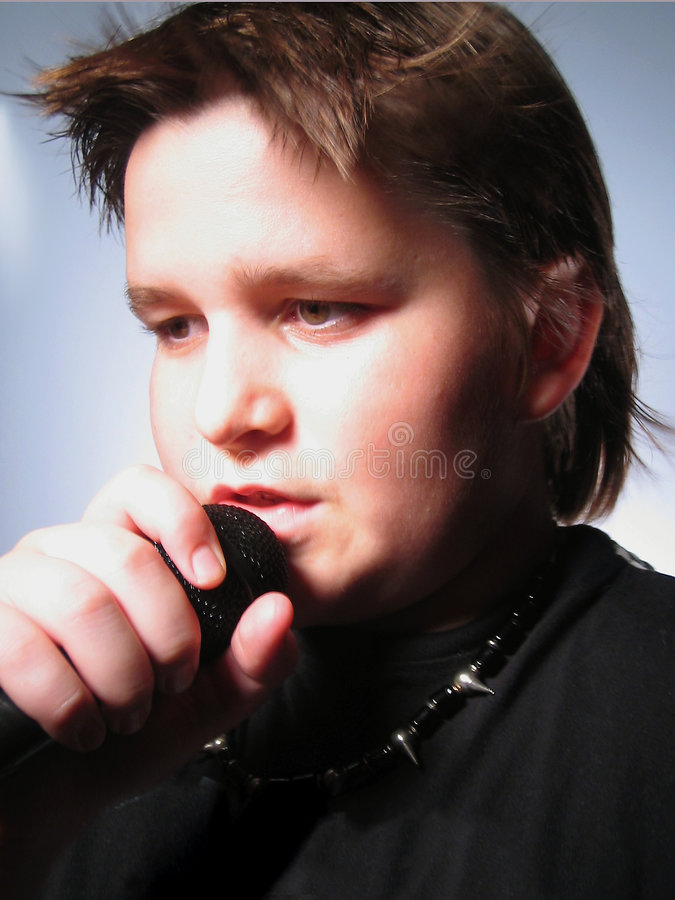 Mannelijke zanger stock foto