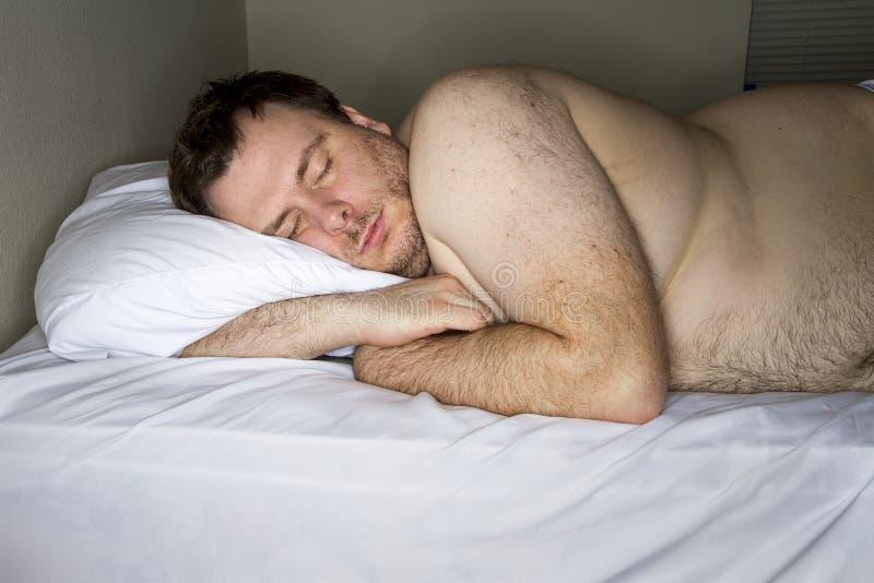 mannen är trött royaltyfri foto