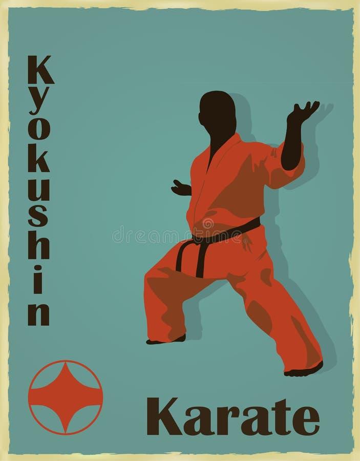 Mannen av den förlovade karatet royaltyfri illustrationer