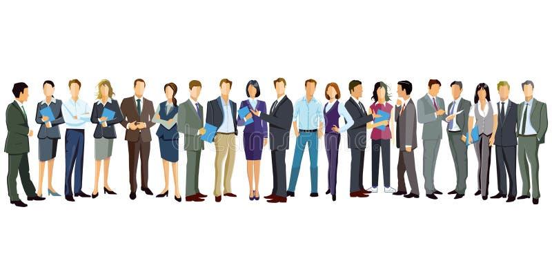 Mannen en vrouwen die zich op wit bevinden vector illustratie