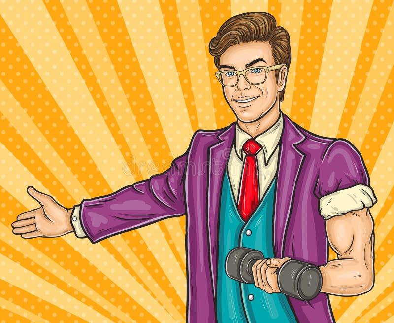 Mannen för popkonst inviterar dig till öppningsidrottshallen vektor illustrationer