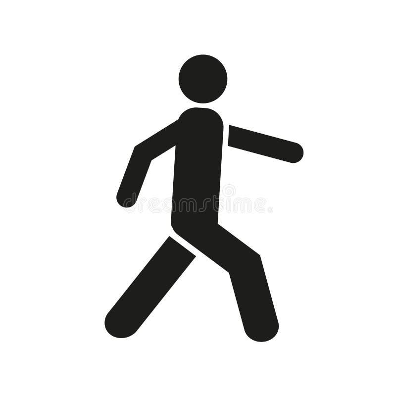 Mannen går symbolen Gå manvektorsymbolen Folket går teckenillustrationen fot- vektorteckensymbol på vit bakgrund vektor illustrationer