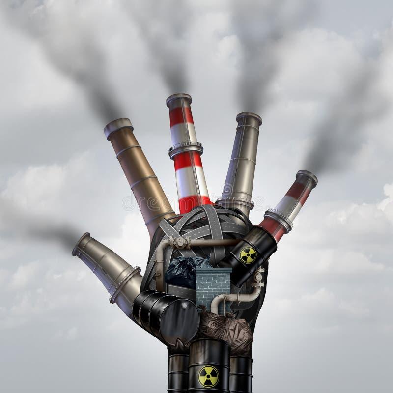 Mannen gjorde förorening stock illustrationer