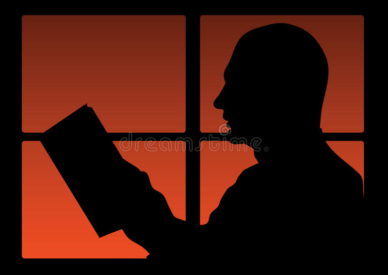 mannen läste vektor illustrationer