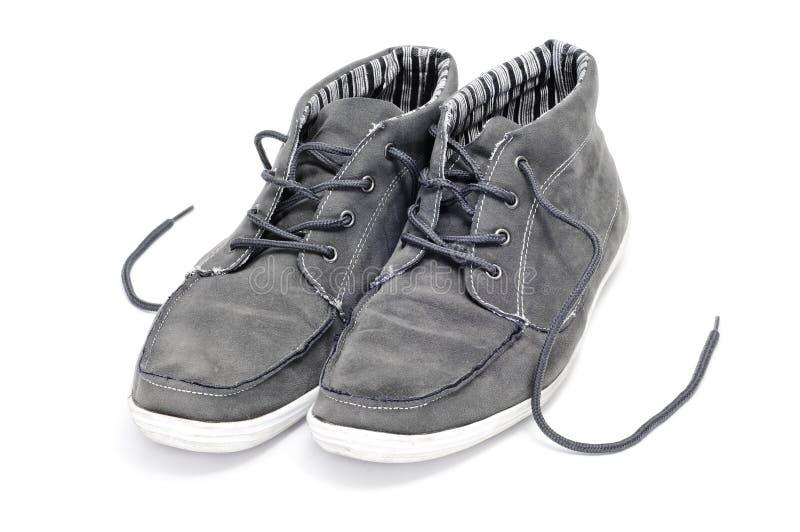 mannen shoes suede arkivfoton
