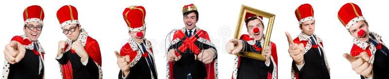 Mannen som pekar hans fingrar som isoleras på vit fotografering för bildbyråer