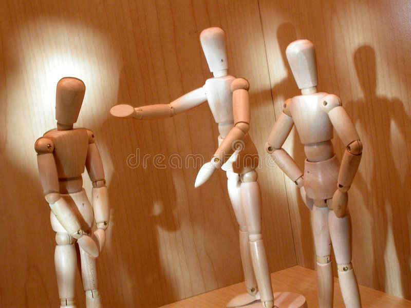 Mannequin 3 Abgefeuert Stockbilder