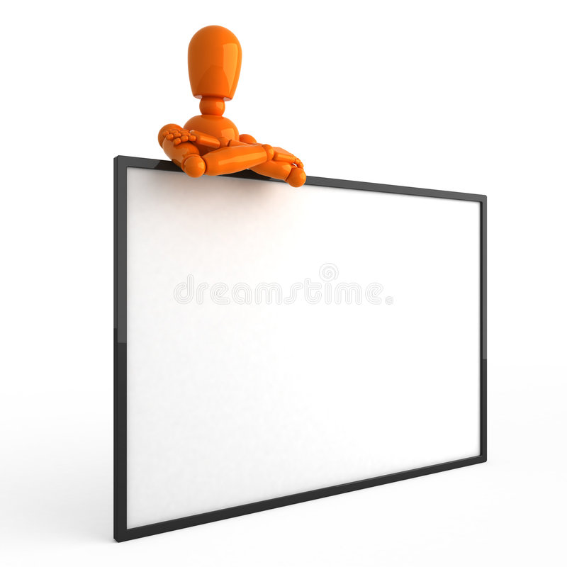 Mannequin alaranjado ilustração stock