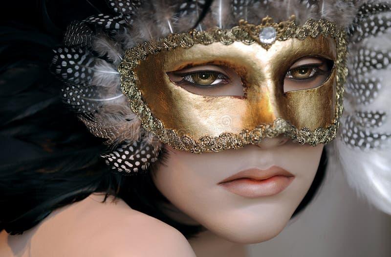 Mannequin avec le masque photo libre de droits