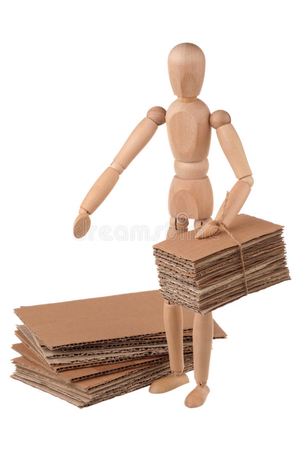 Download Mannequin and cardboard stock photo. Image of pile, paper - 23781914