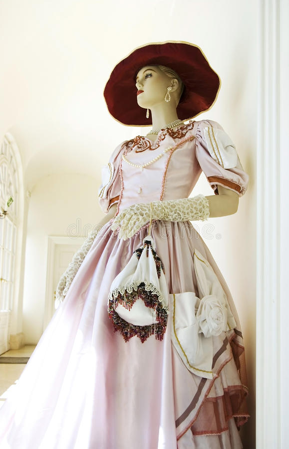Mannequin in castle royalty free stock images