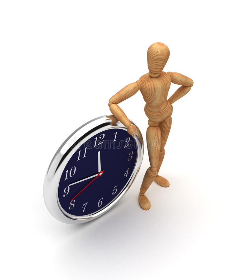 Mannequin with clock royalty free stock photography