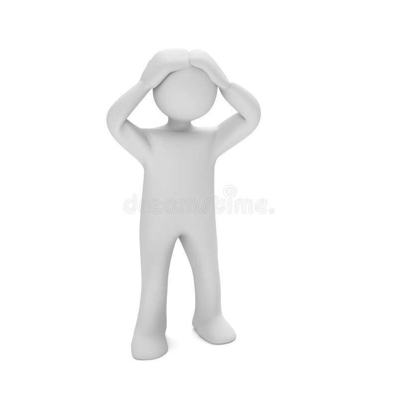 Mannequin désespéré illustration de vecteur