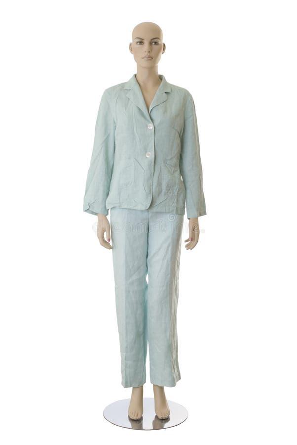 Mannequin dans des pyjamas | D'isolement images libres de droits
