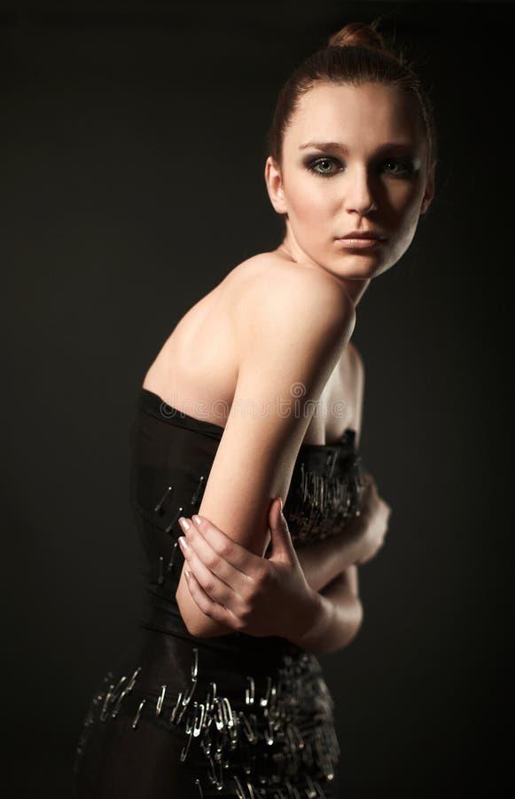 Mannequin dans la robe de goupille image stock