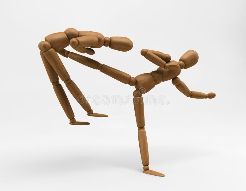 mannequin de karaté illustration stock