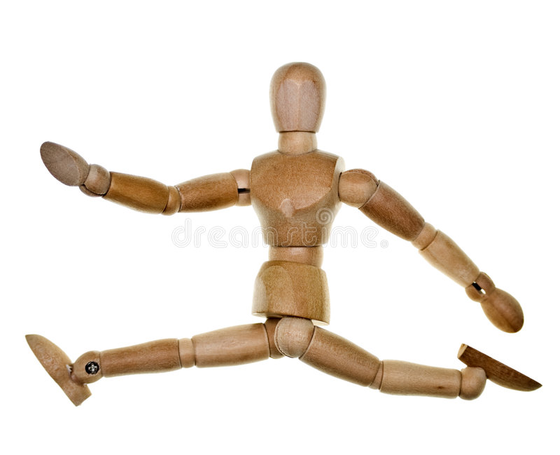 Mannequin de madeira levantado foto de stock royalty free