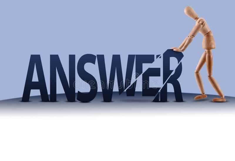 Mannequin de mot de réponse illustration libre de droits