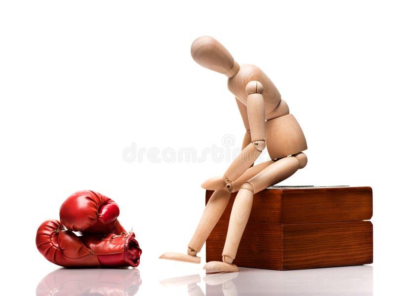 Mannequin en bois de boxe photographie stock