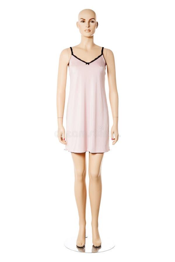 Mannequin fêmea no nightwear | Isolado fotografia de stock