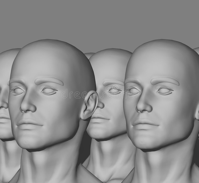 Mannequin Factory royalty free stock image