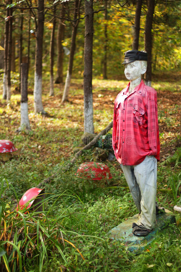 Mannequin in the forest stock photography