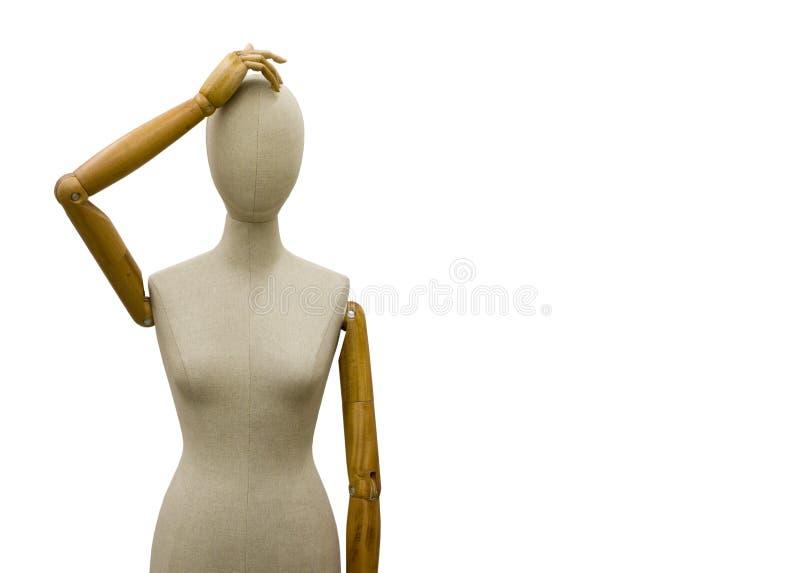 Mannequin (formulário) que risca a cabeça fotografia de stock royalty free