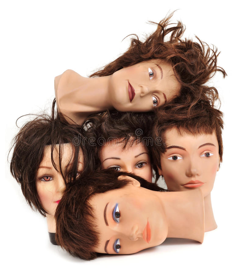 Mannequin heads stock image