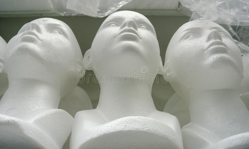 Mannequin heads royalty free stock photos