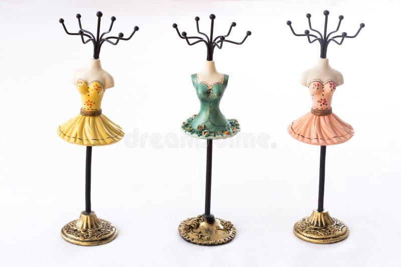 Mannequin hoders für Schmuck lizenzfreie stockbilder