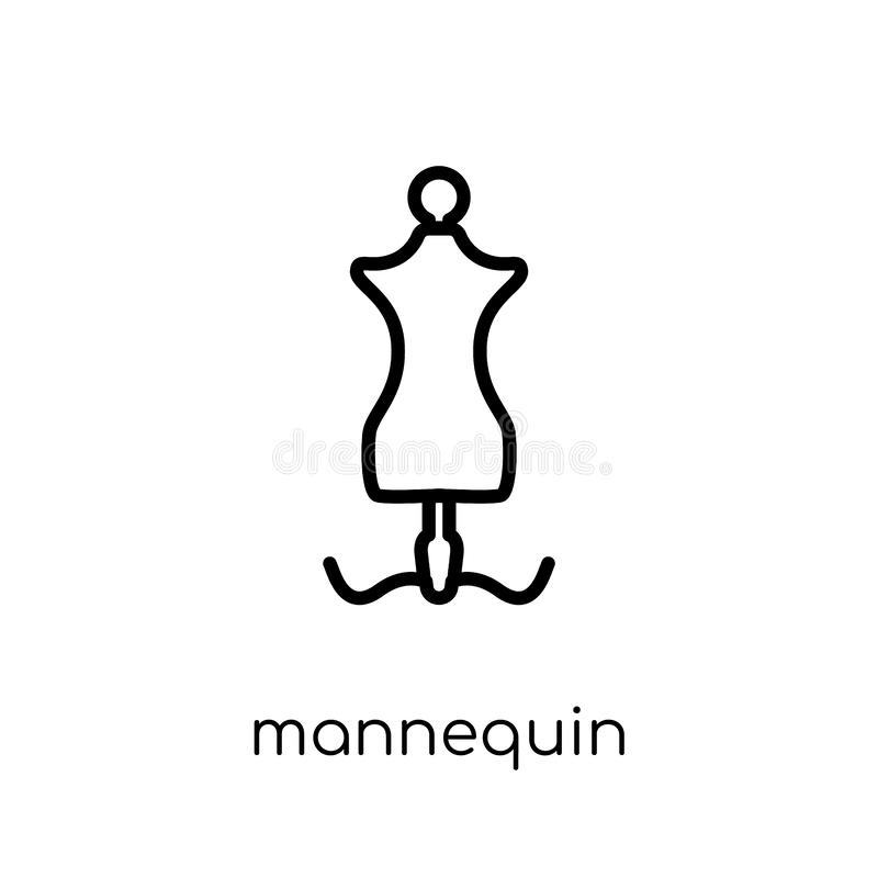Mannequin icon from collection. royalty free illustration