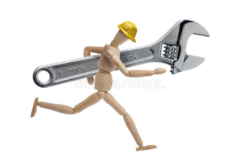 Mannequin-justierbarer Schlüssel lokalisiert lizenzfreie stockfotografie