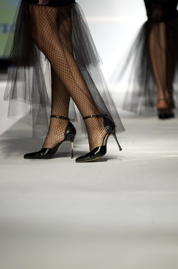 Mannequin legs. Models on stage. Exlusive fashion week stock images