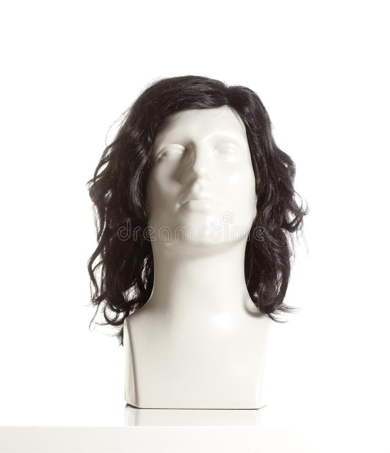 Mannequin Male Head with Wig. On White stock image