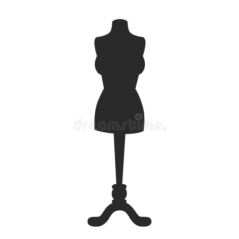 Mannequin manikin model vector icon royalty free illustration