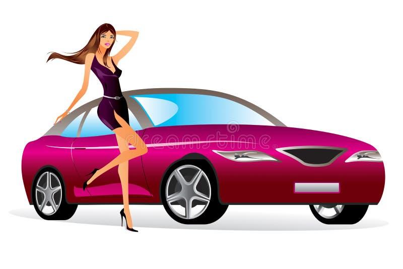 Mannequin met een nieuwe auto vector illustratie